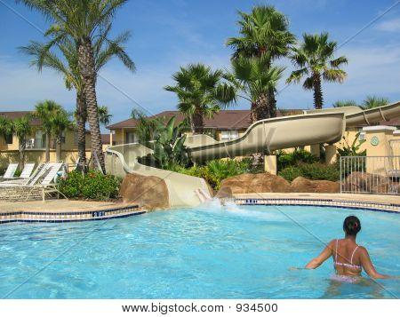 Sunny Pool And Slide