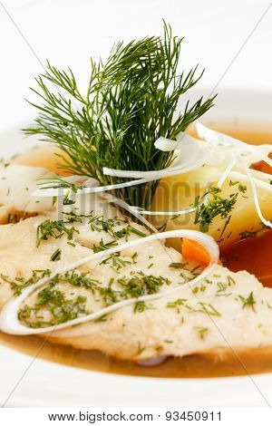 soup of the carp with potatoes