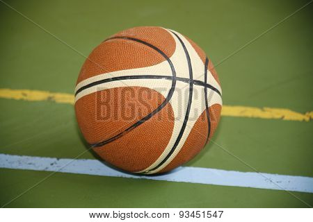 Basket Ball On The Playground