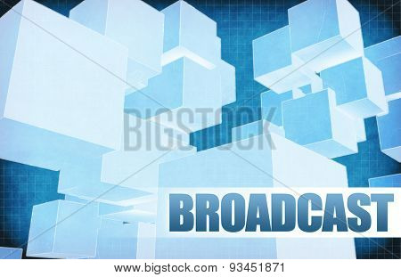 Broadcast on Futuristic Abstract for Presentation Slide