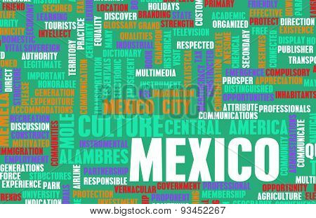Mexico as a Country Abstract Art Concept