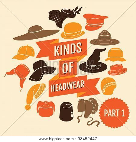 Kinds of headwear. Part 1