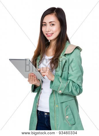 Asian woman use of tablet pc