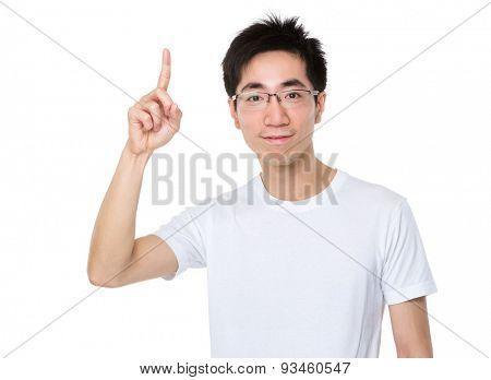 Man showing finger up