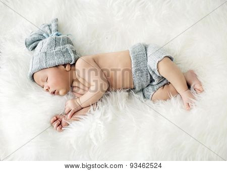 Cute little newborn baby