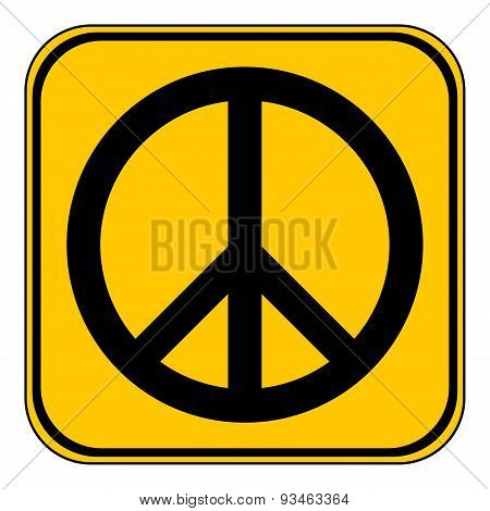 Peace Symbol Buttom.