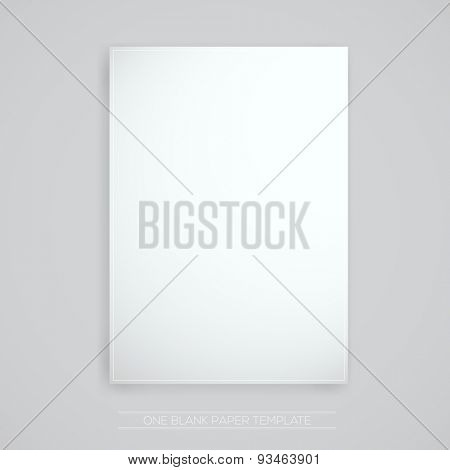 Blank paper | Vector Illustration