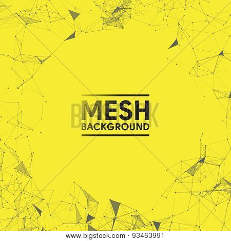 Yellow Mesh Vector Background | EPS10 Design