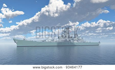 American battleship of World War II