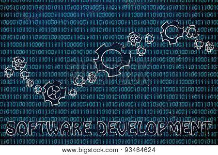 Gearwheels On Binary Code, Concept Of Software Development