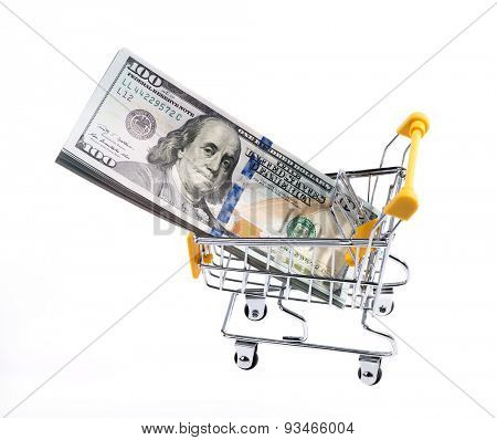 dollars with shopcart