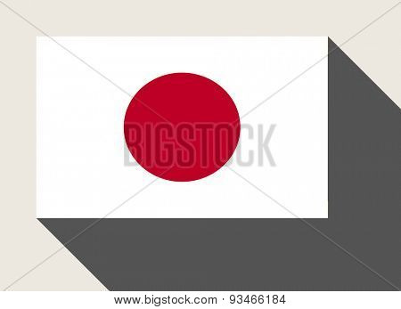 Japan flag in flat web design style.