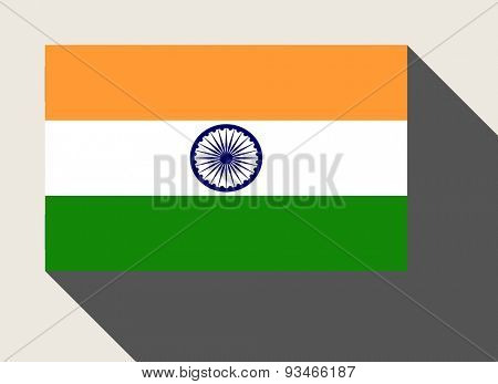 India flag in flat web design style.