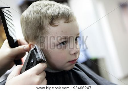 Boy Having A Haircut