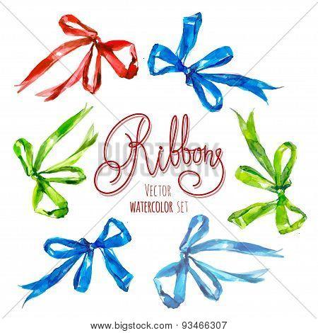 Watercolor Ribbons