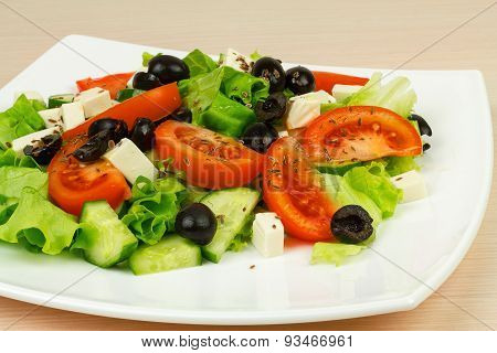 Salad With Vegetables.