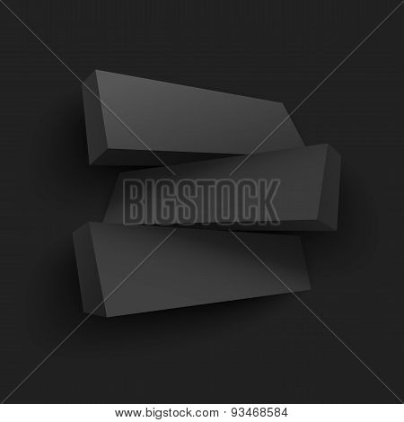 Vector illustration of 3d boards with place for text.