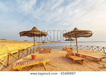 beach with parasol