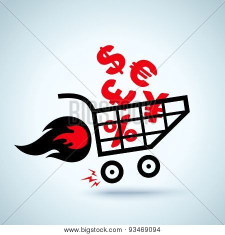Shopping cart with currency