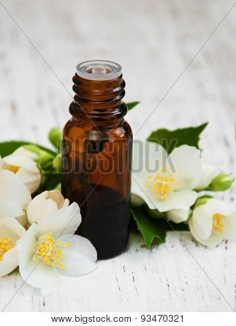 Essential Oil With Jasmine Flower