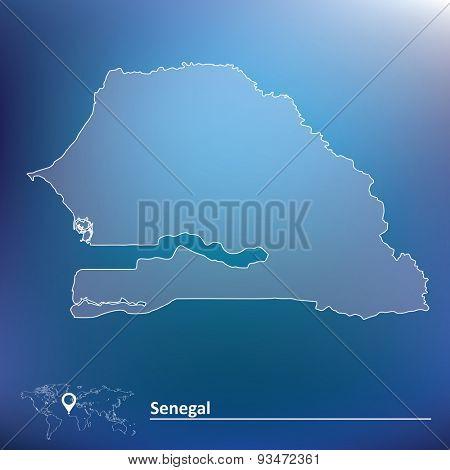 Map of Senegal - vector illustration