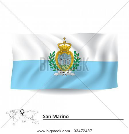 Flag of San Marino - vector illustration