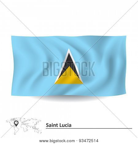 Flag of Saint Lucia - vector illustration