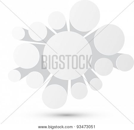 Bubble white infographics perspective design. Vector illustration.