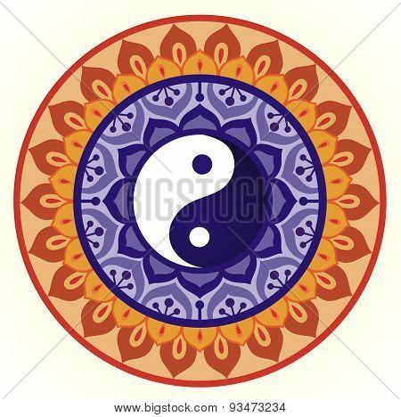 Lotus Yin Yang Design
