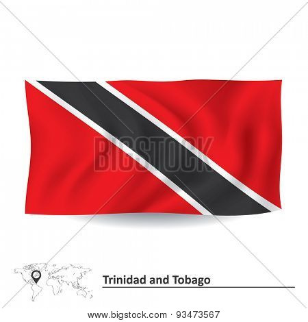 Flag of Trinidad and Tobago - vector illustration