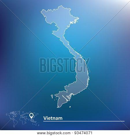 Map of Vietnam - vector illustration