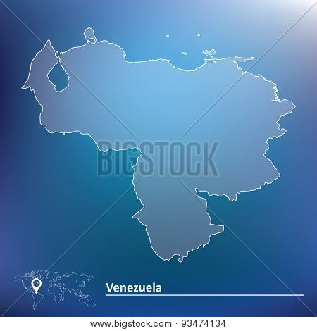 Map of Venezuela - vector illustration
