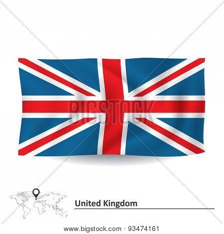 Flag of United Kingdom - vector illustration