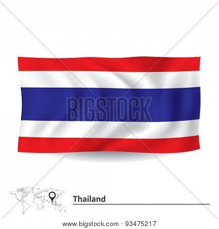 Flag of Thailand - vector illustration