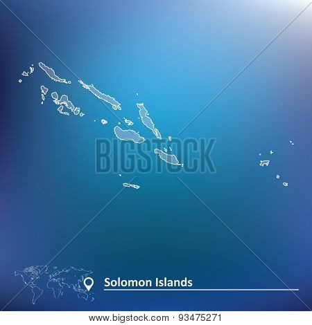 Map of Solomon Islands - vector illustration
