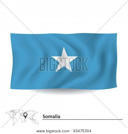 Flag of Somalia - vector illustration
