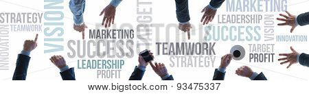 Business Teamwork And Success Banner