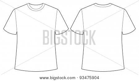 Short sleeves white shirt back and front view
