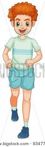 Man in sportwear jogging alone