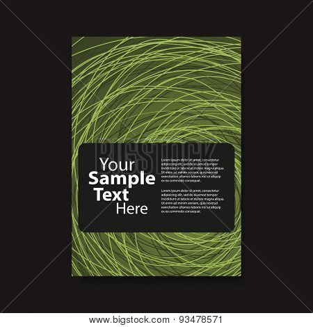 Flyer or Cover Design with Swirly Lines