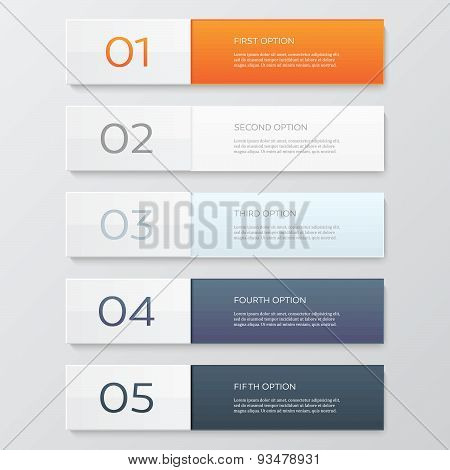 Infographics design template. Business concept with 5 options.