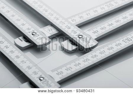 Metre measure ruler