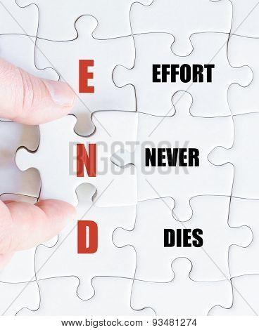 Last Puzzle Piece With Business Acronym End