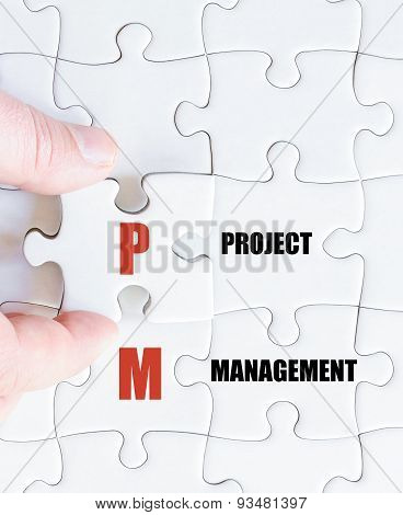 Last Puzzle Piece With Business Acronym Pm