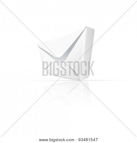 White envelope with paper easy editable