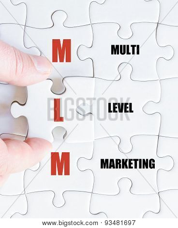Last Puzzle Piece With Business Acronym Mlm
