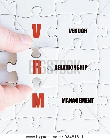 Last Puzzle Piece With Business Acronym Vrm