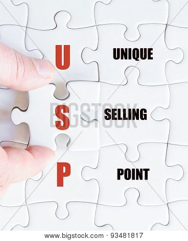 Last Puzzle Piece With Business Acronym Usp