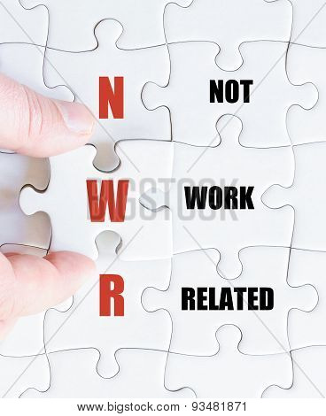 Last Puzzle Piece With Business Acronym Nwr