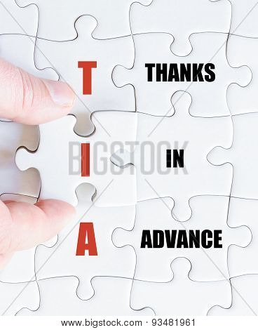 Last Puzzle Piece With Business Acronym Tia